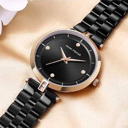 Оригинальные наручные часы Mini Focus MF0120L.02 Black-Cuprum Diamonds | Оригинал Мини фокус, Гарантия 1 год!, фото 2
