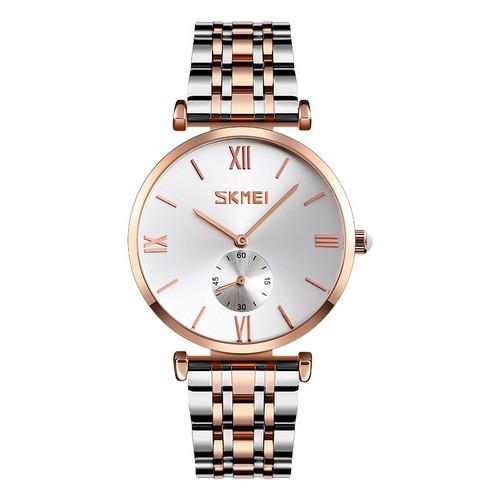 Оригинальные наручные часы Skmei 9198 Silver-Cuprum Big   Оригинал Скмей, Гарантия 1 год!