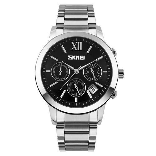 Оригинальные наручные часы Skmei 9097 Silver-Black | Оригинал Скмей, Гарантия 1 год!