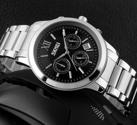 Оригинальные наручные часы Skmei 9097 Silver-Black | Оригинал Скмей, Гарантия 1 год!, фото 2