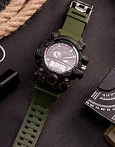 Оригінальні наручні годинники Sanda 742 Green-Black | Оригінал Санда, фото 2