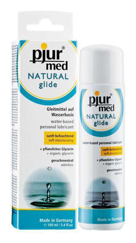 Лубрикант на водній основі pjur MED Natural glide 100 мл спеціально для сухої і чутливої шкіри