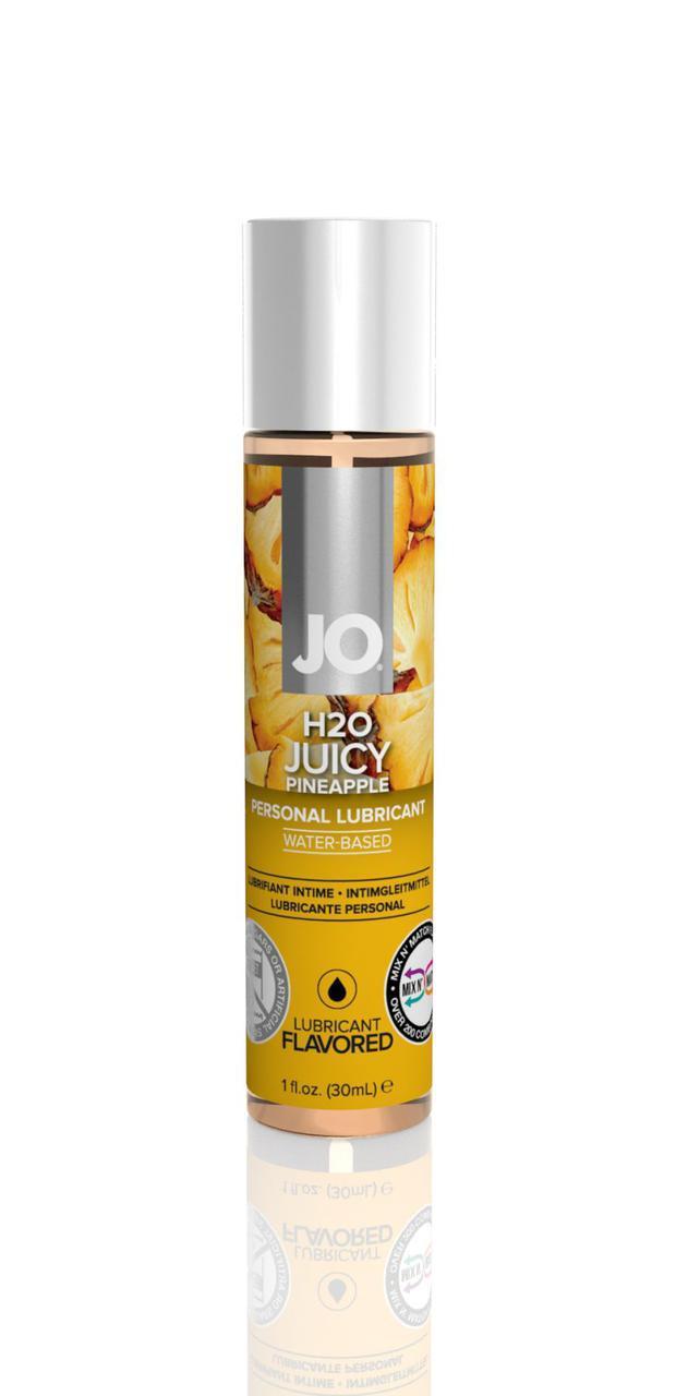 Змазка на водній основі System JO H2O - Juicy Pineapple (30 мл) без цукру, рослинний гліцерин