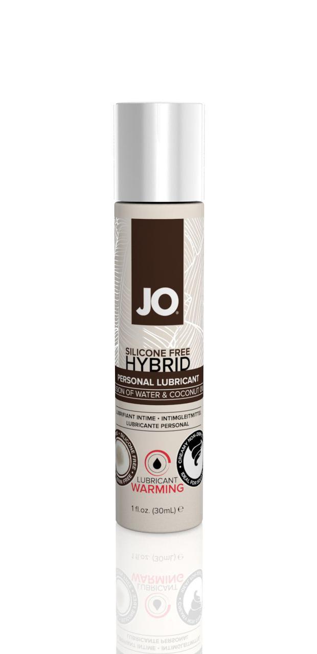 Охолоджуюча крем-мастило з кокосовим маслом System JO Silicone Free Hybrid COOLING (30 мл) біла