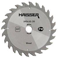 Пильный диск по дереву Haisser 160*16/20*24Т