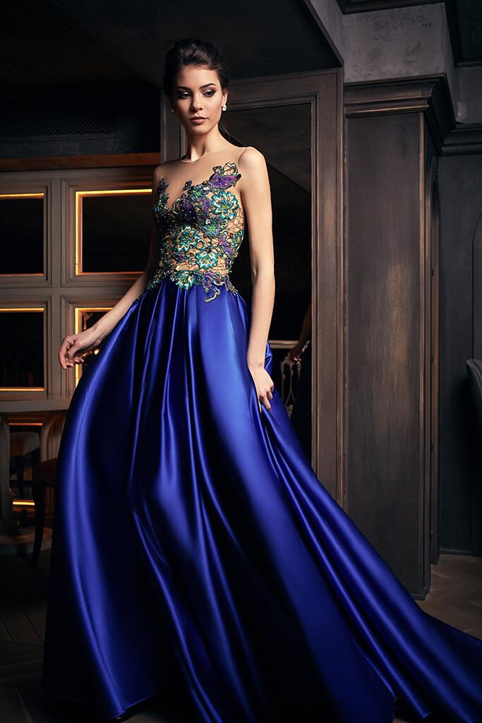 "Oksana Mukha / Красивое синее платье ""1234"""
