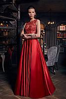 """Невероятное красное платье в пол """"1235"""""""