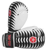 """Боксерские перчатки TopTen Design """"Backbone"""" черно-белый 10 oz"""