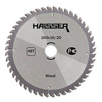 Пильный диск по дереву Haisser 160*16/20*48Т