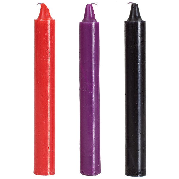 БДСМ свічки низькотемпературні Doc Johnson Japanese Drip Candles - 3 Pack Multi-Colored