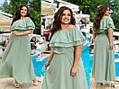 """Очень модное женское длинное платье с накидкой больших размеров """"Уна"""", фото 2"""