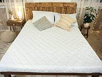 Наматрасник с бортами Leleka-Textile 160х200 см Белый 1005213, КОД: 1659414