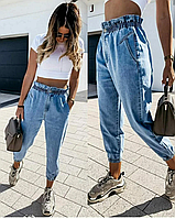 """Обалденные классические женские джинсы с высокой посадкой на резинке """"Фанни"""""""