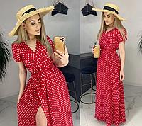 """Очень красивое женское летнее платье в пол больших размеров """"Кайли"""",софт,50,52"""