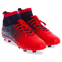 Бутси футбольні з носком чоловічі дорослі Pro Action Термополіуретан Червоний (PRO-1000-24) 45