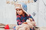 Детская шапка зимняя для мальчиков ЛЕВИС (хаки) оптом размер 46-48-50, фото 2