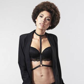 Портупея Bijoux Indiscrets MAZE - I Harness Black, екошкіра, дуже стильна