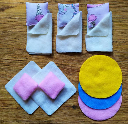 Набор текстиля для маленьких кукол LOL 1109. 16 предметов, фото 2