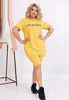 Модный летний спортивный костюм 627 (48–54) в расцветках, фото 1