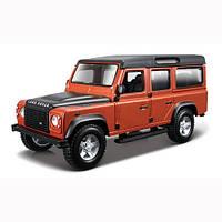 Авто-конструктор Bburago Land Rover Defender 110 (коричневый металлик, 1:32),(18-45127)