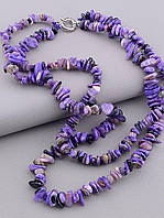 Бусы женские SUNSTONES из натуральных камней Чароит Серебро 925 43 см
