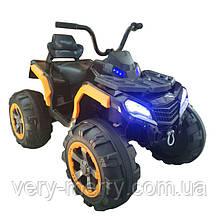 Дитячий електромобіль-квадроцикл (чорно-помаранчевий колір)