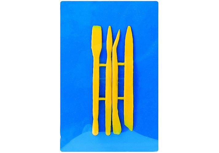 Доска для лепки пластилина +4 стеки (E81183) ассорти (23см*15см)
