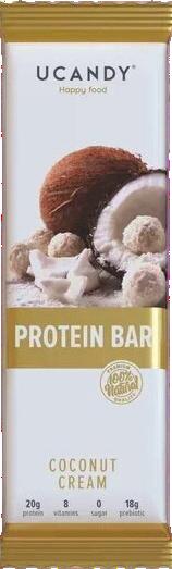 Протеїновий батончик Ucandy Кокосовий Крем (60 грам)