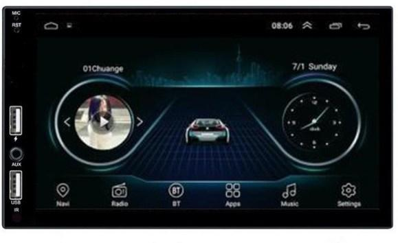 Автомагнітола 2Din GPS Wi-Fi Android 1/16 7021