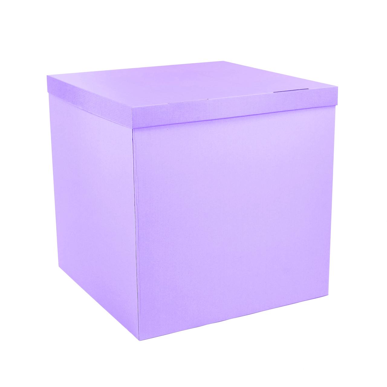 Коробка-сюрприз 700*700*700мм сиреневая без печати (значительный брак)