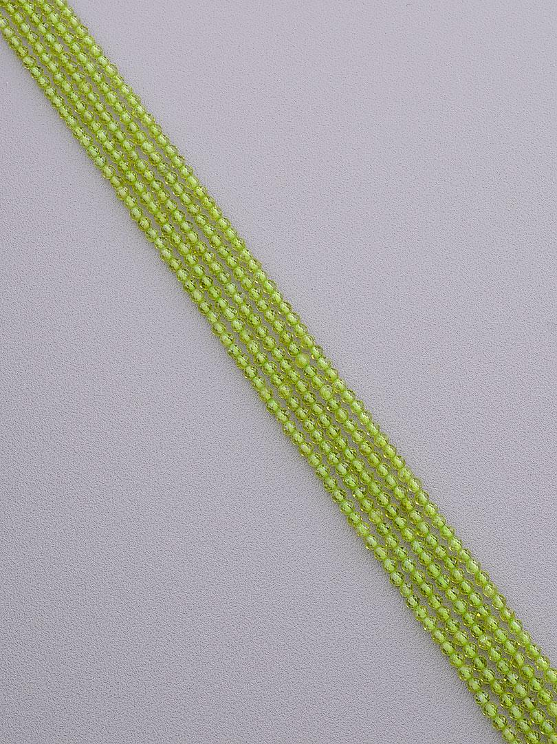 Заготовка для бус и браслетов нить из натурального камня Оливин 39 см 3 мм  сертификаты на камни
