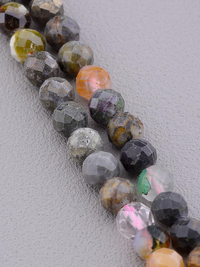 Заготовка для бус и браслетов нить из натурального камня Самоцветы 40 см 5 мм  сертификаты на камни