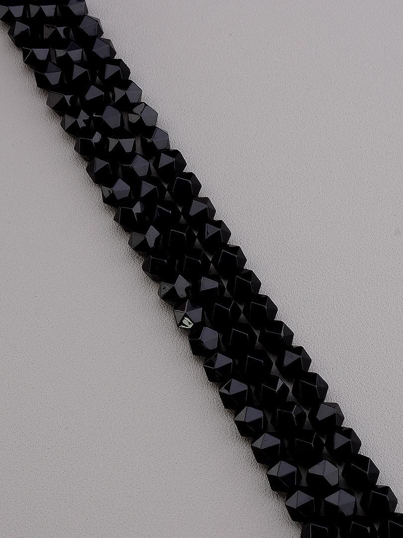 Заготовка для бус и браслетов нить из натурального камня Агат 38 см 7 мм  сертификаты на камни