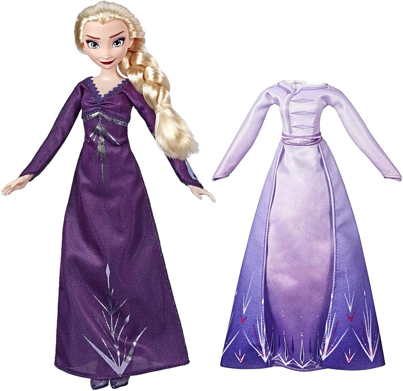 Кукла Эльза Оригинал со сменным Платьем из серии Холодное Сердце 2 Disney Frozen Elsa Fashion Doll (E6907AX1)
