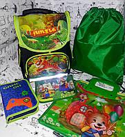 Набор для Девочки Smile Тигр рюкзак 988344, пенал 531710 , сумка для обуви, Папка А4  + Подарок Пенал-папка