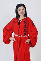 Вышитое платье лен бохо вышиванка, этно, бохо-стиль, вишите плаття, Bohemian