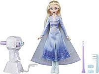 Модная кукла Эльза с очень длинными светлыми волосами, инструментом для плетения волос Оригинал (E7002AS00)