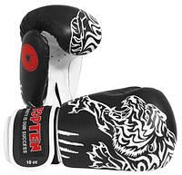 """Боксерские перчатки TopTen Design """"Tiger"""" 10 oz Черный"""
