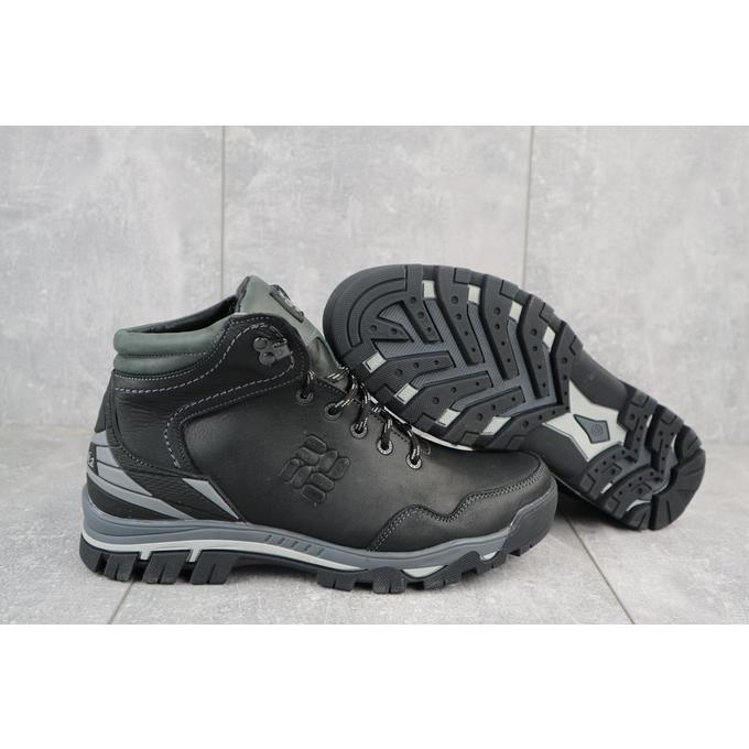 Мужские ботинки кожаные зимние черные Barzoni 240