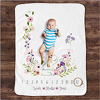 Фотоплед фотоодеяло фотофон фотопелюшка для малышей по месяцам
