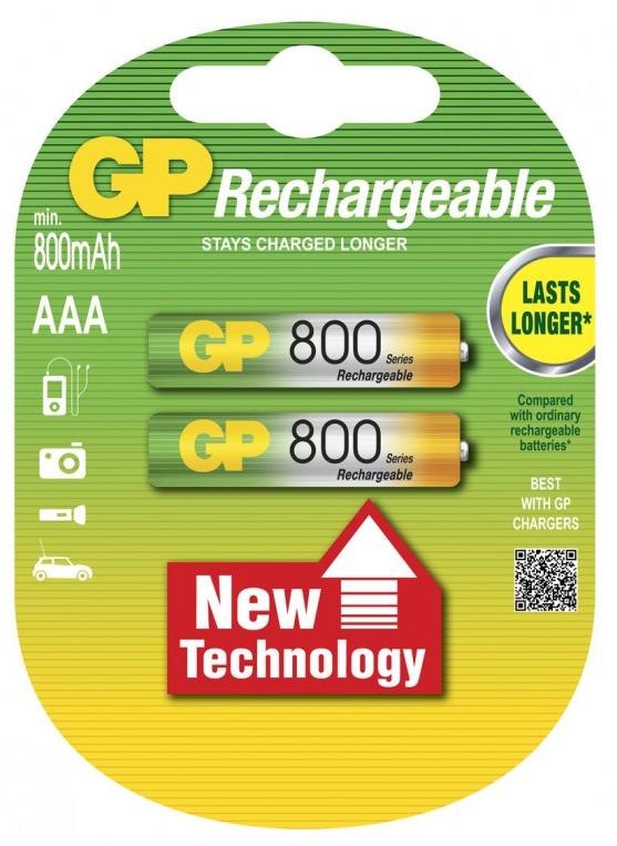 Аккумулятор ААА GP 800mAh