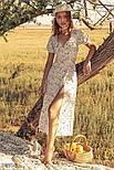 Цветочное платье макси белое, фото 2