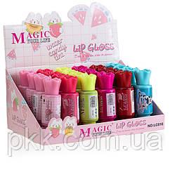 Помада-тинт для губ жидкаяMAGIC YUOR LIFE water candy tint Lip Gloss конфетка mix-6штLC-816