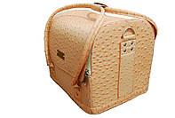 Кейс для мастера, чемодан. Нежно-персиковый.