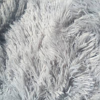 """Плед меховой Травка """"Серый"""" полуторный, 160/220 см"""