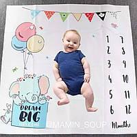 Фотопеленка для перших фотосесій малюка. Фотофон для новонародженого Слоник