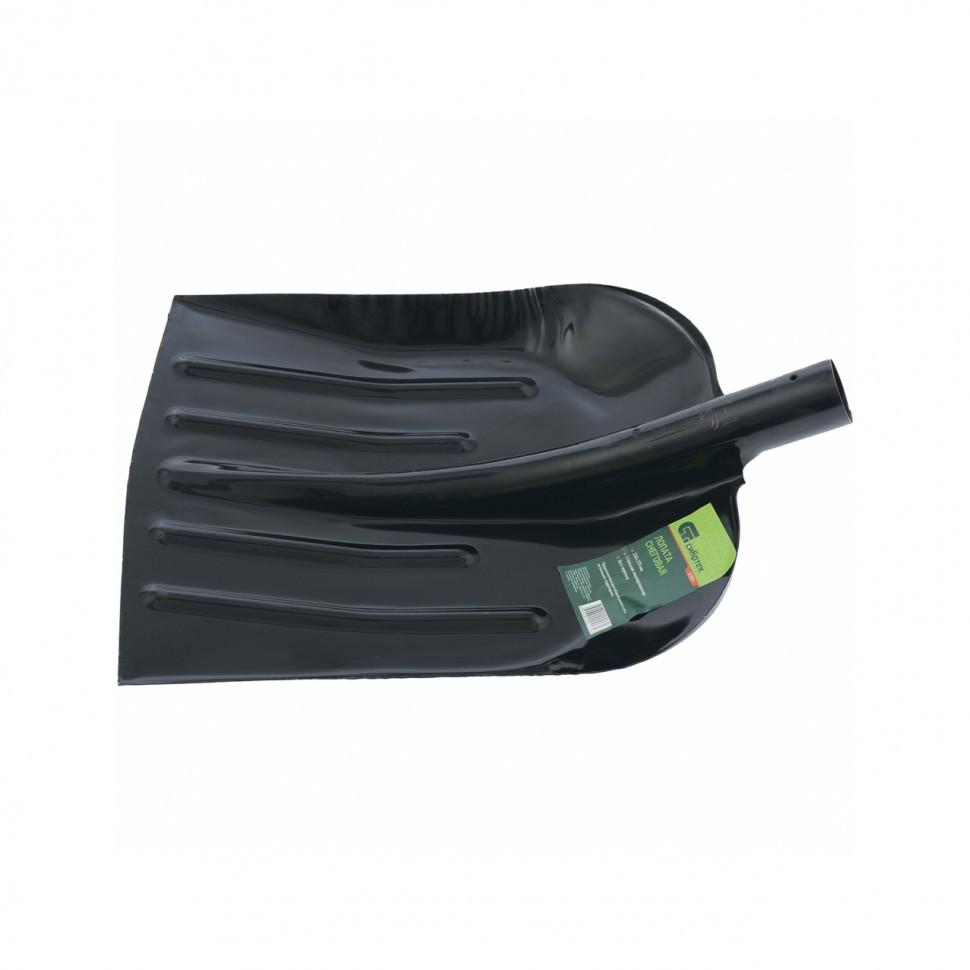 Лопата для уборки снега стальная эмалированная, 330х365 мм, без черенка, Россия Сибртех