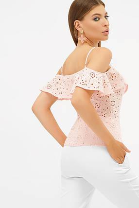 Майка  из батиста и прошвы с открытыми плечами Размеры S, M, L, XL, фото 2