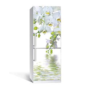 Наклейка на холодильника Zatarga Орхидея над водой 650х2000 мм Белый (z180203)
