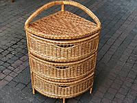 Комод угловой плетёный из лозы ( 100*40*40 )